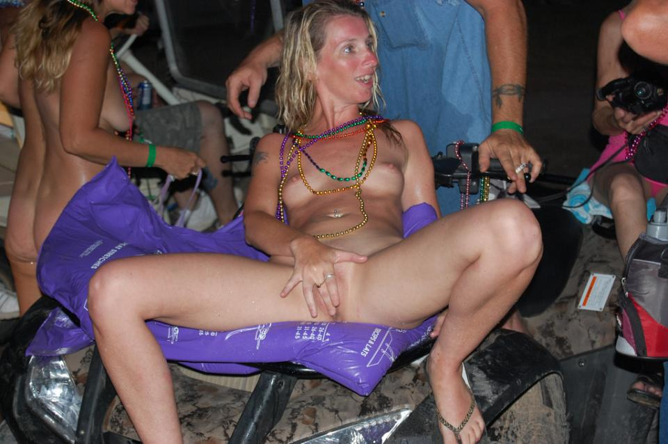 Wife naked at bike rally