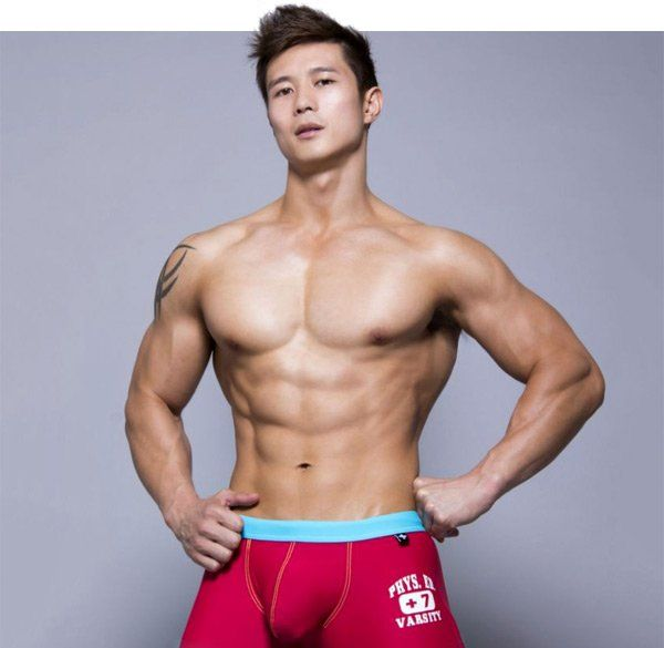 Asian naked bodybuilder men