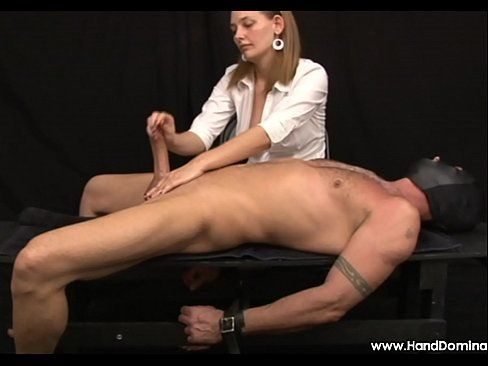 Woman penis bdsm slowly handjob can