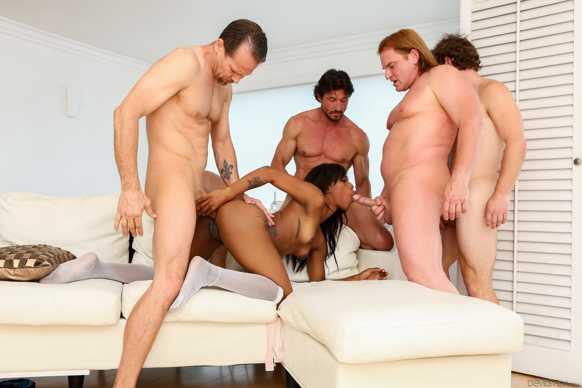White guys gangbang black man