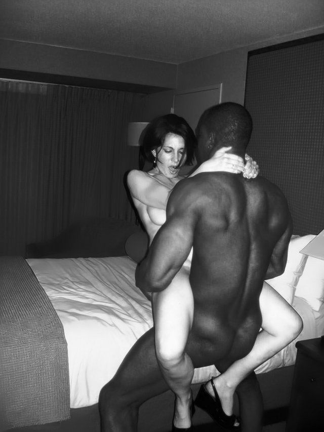 Interracial sex white slut cuckold