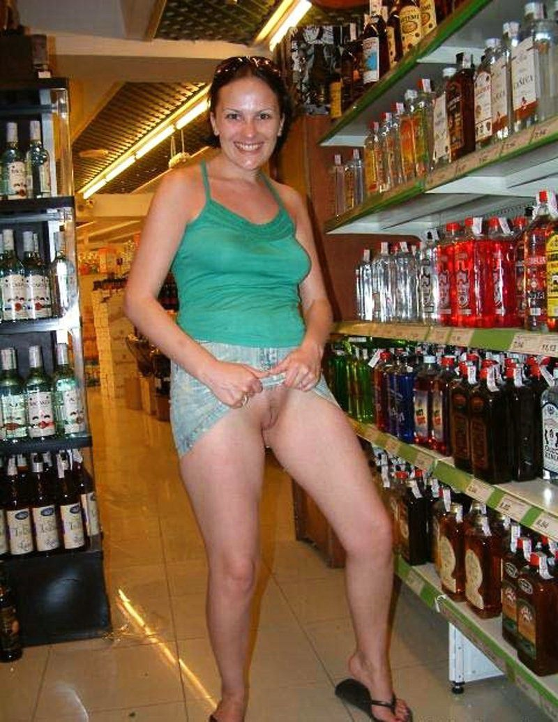 Naked wife in walmart