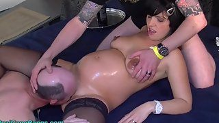 Amateur wife crying first