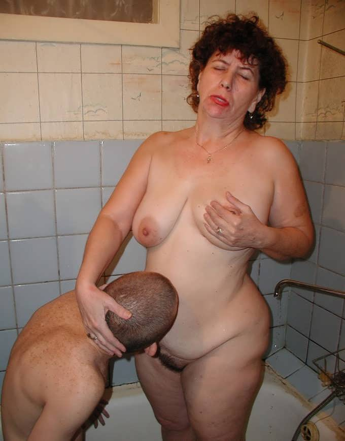 Nud russian old lady