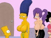 Marge simpson and leela nude