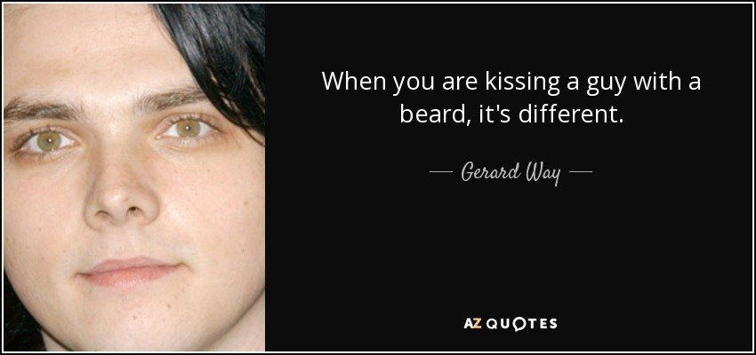 best of To a with a How beard kiss guy