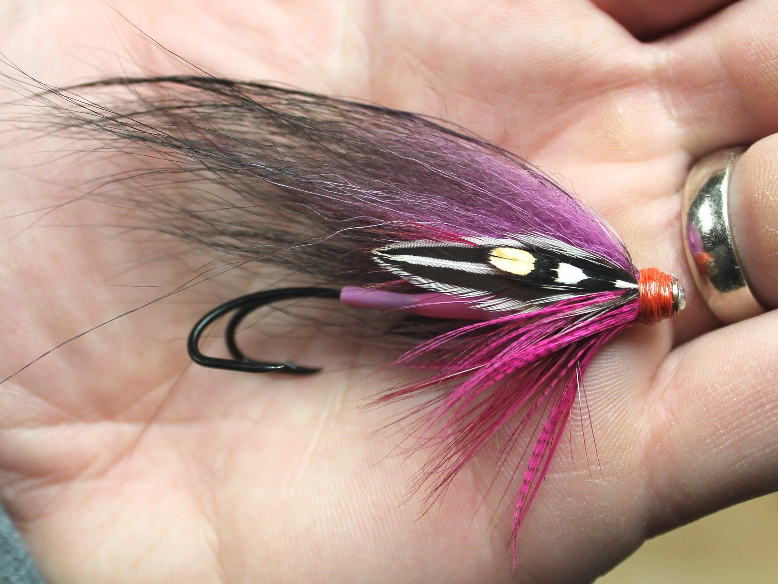 Fly tying jungle cock feathers