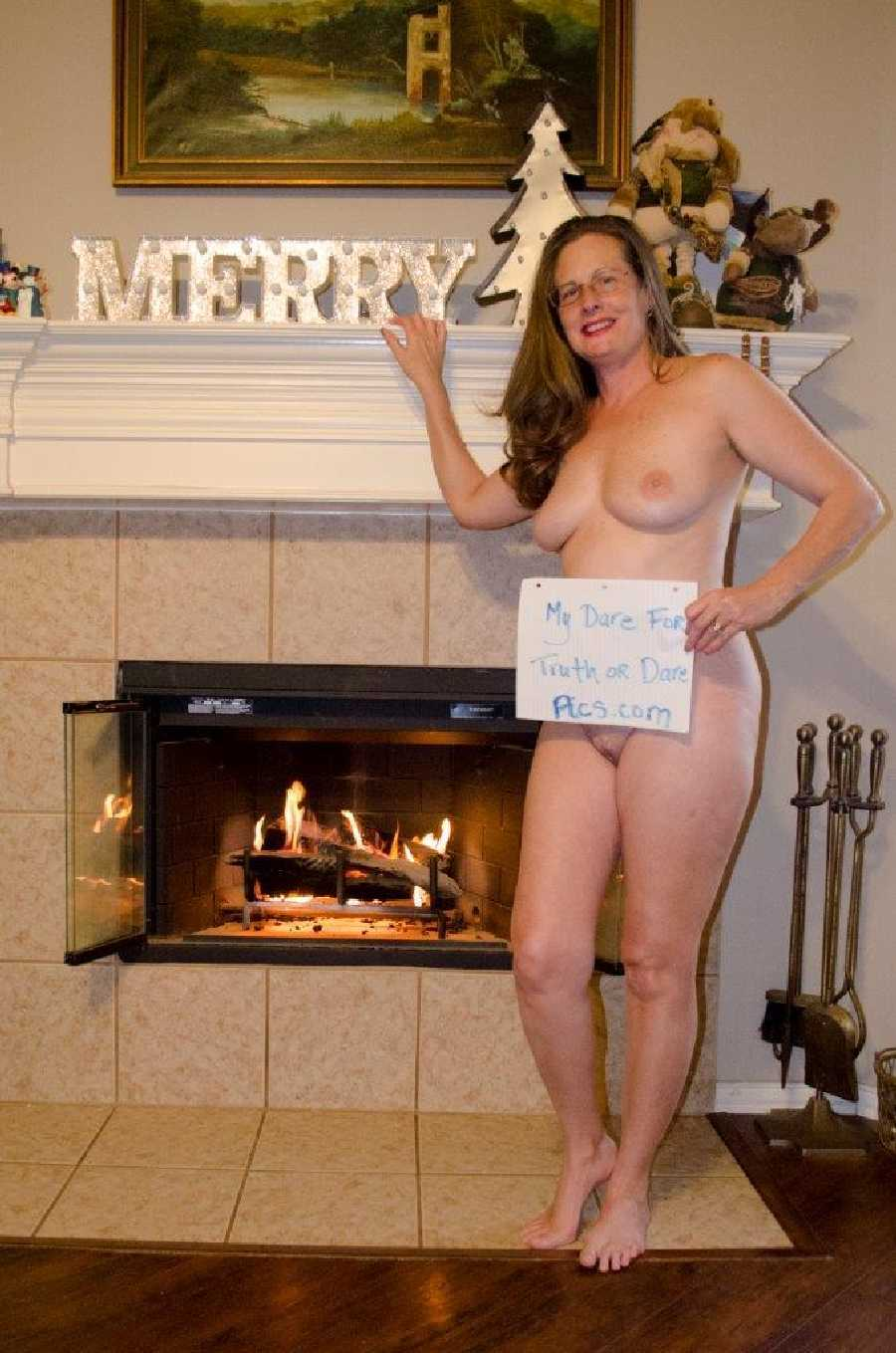Naked wife at party
