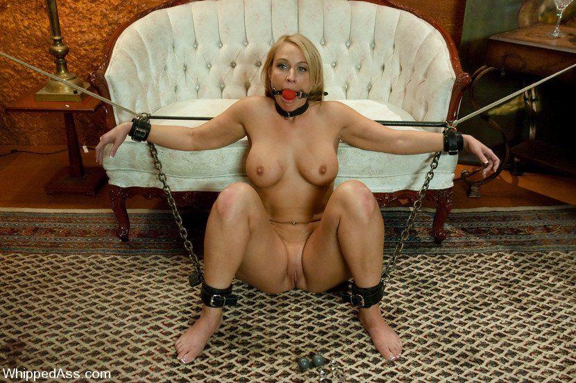 Lesbian bondage dildo