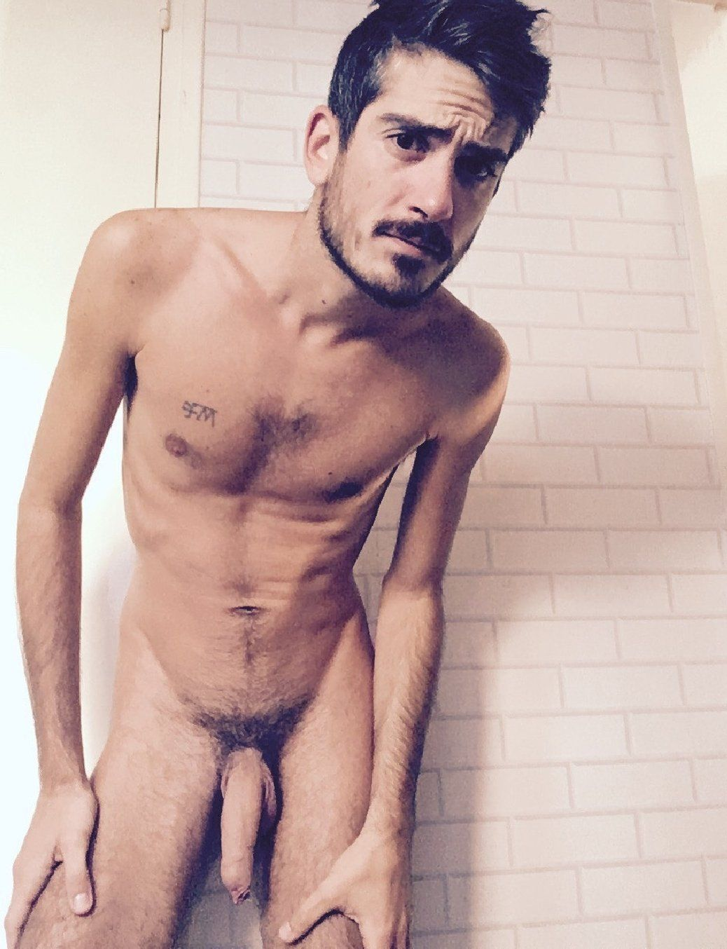 Evil E. reccomend Nude male with soft cock