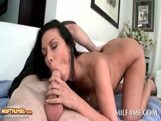 Amateur milf hot blowjob and anal
