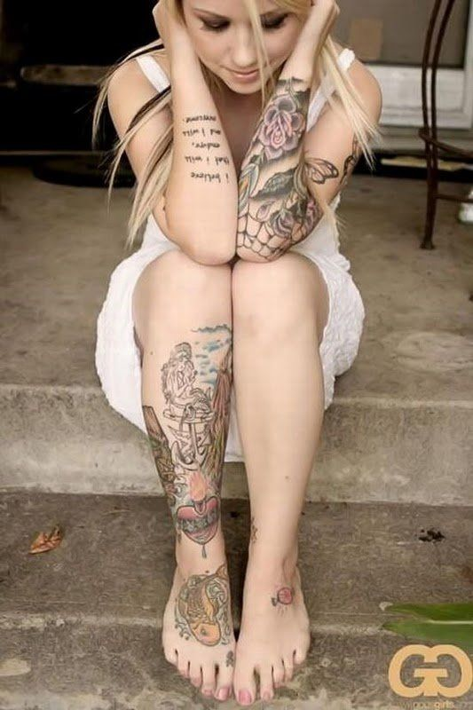 Snow C. reccomend Beautiful tattooed naked chicks
