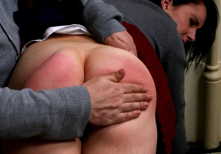 Bare bottomed hand spanking