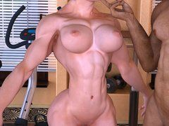 My chubby daughter naked