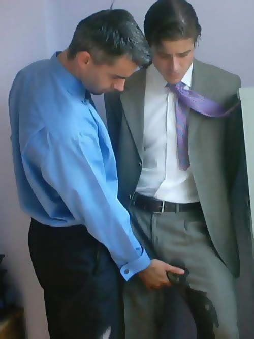 Suit and tie pissing