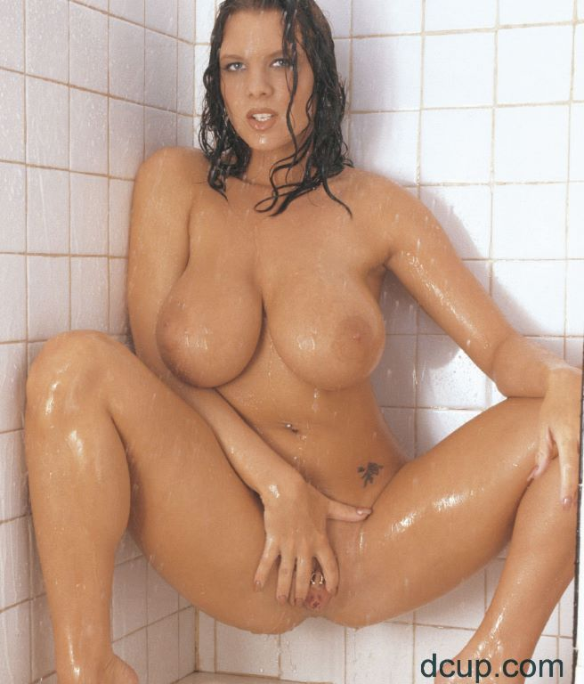 A cup tits naked in shower