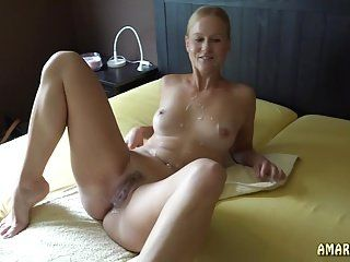 Blonde haired girl with naked emo