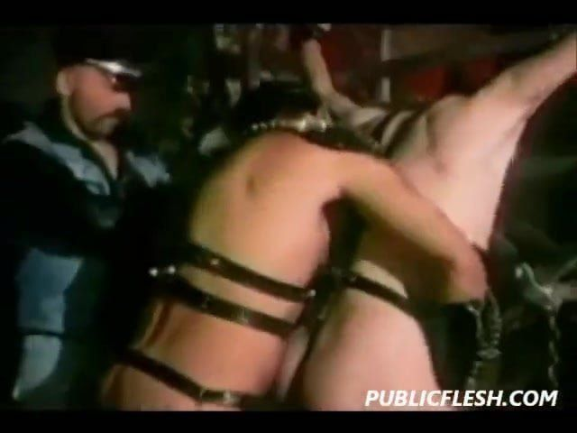 Blitz reccomend Leather domination free porn 3-way leather stud domination