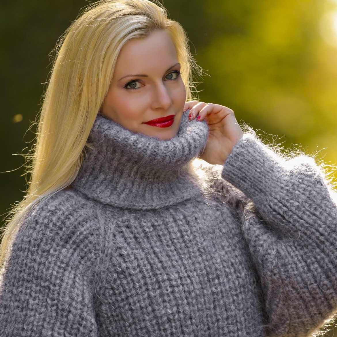 best of Sweater Angora woman fetish