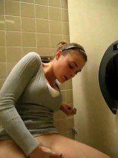 Bathroom girl masturbate