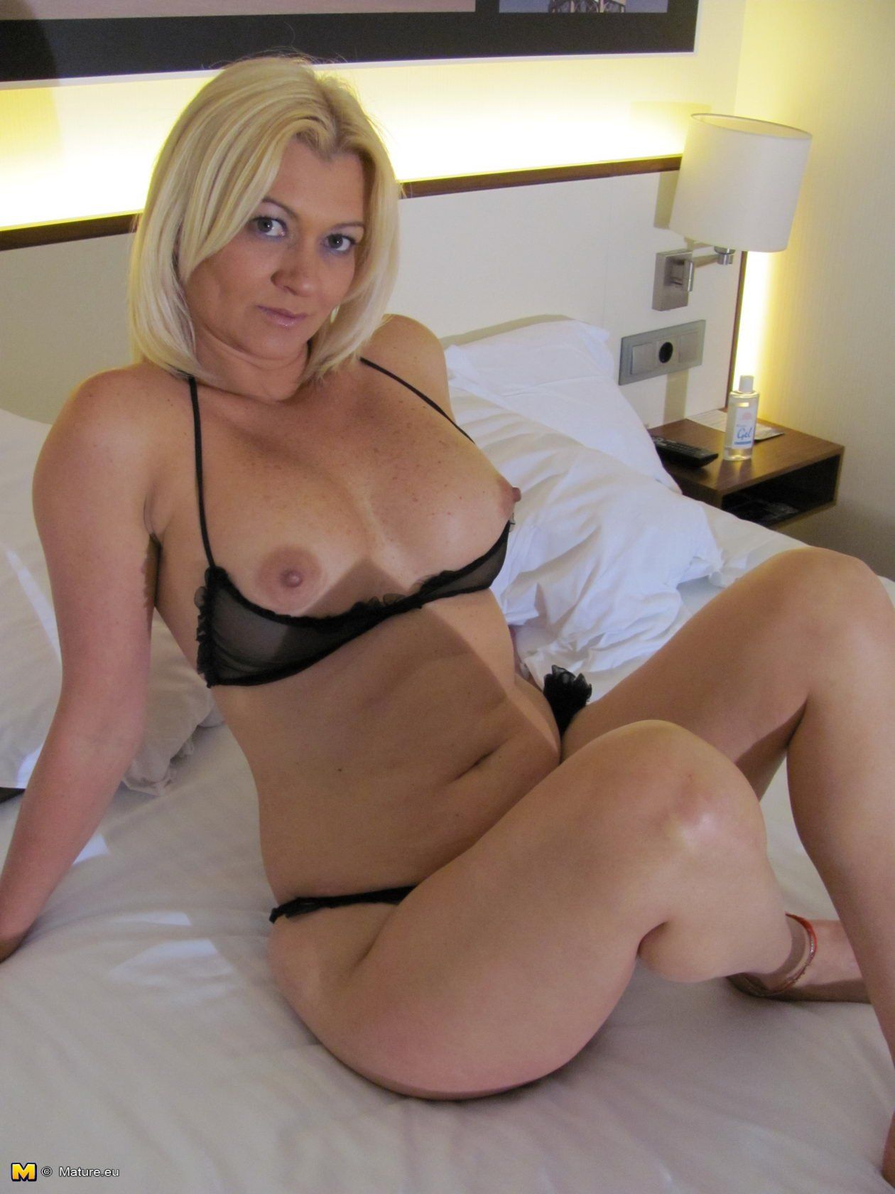 Beautiful blond mature whore