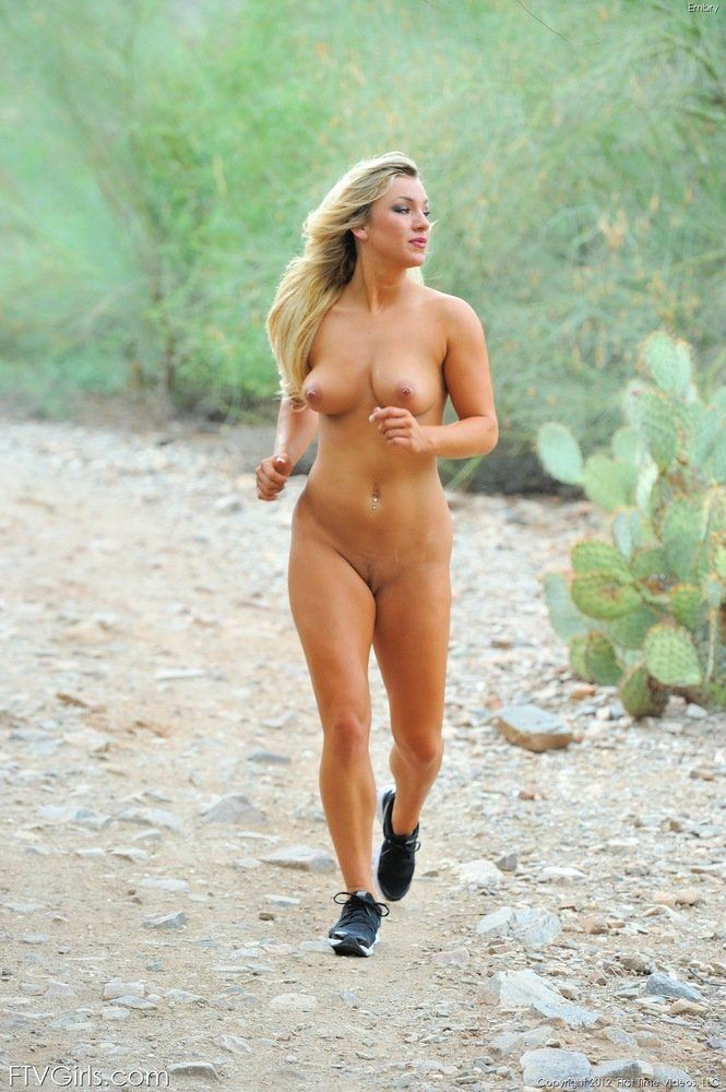 best of Jogging nude slut College