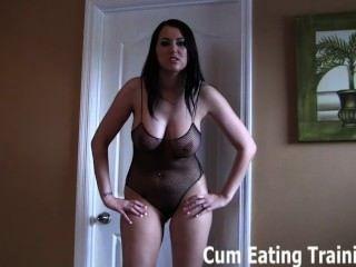 Cum eating slut