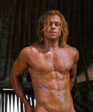 Brad pitt poses nude