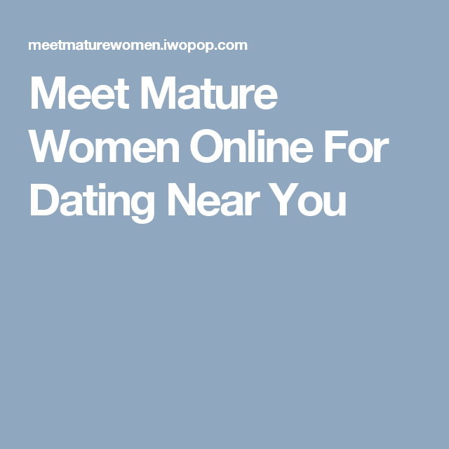 Find mature singles for sex