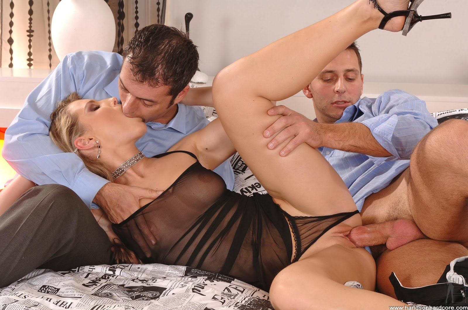 Elderly threesome two man and woman