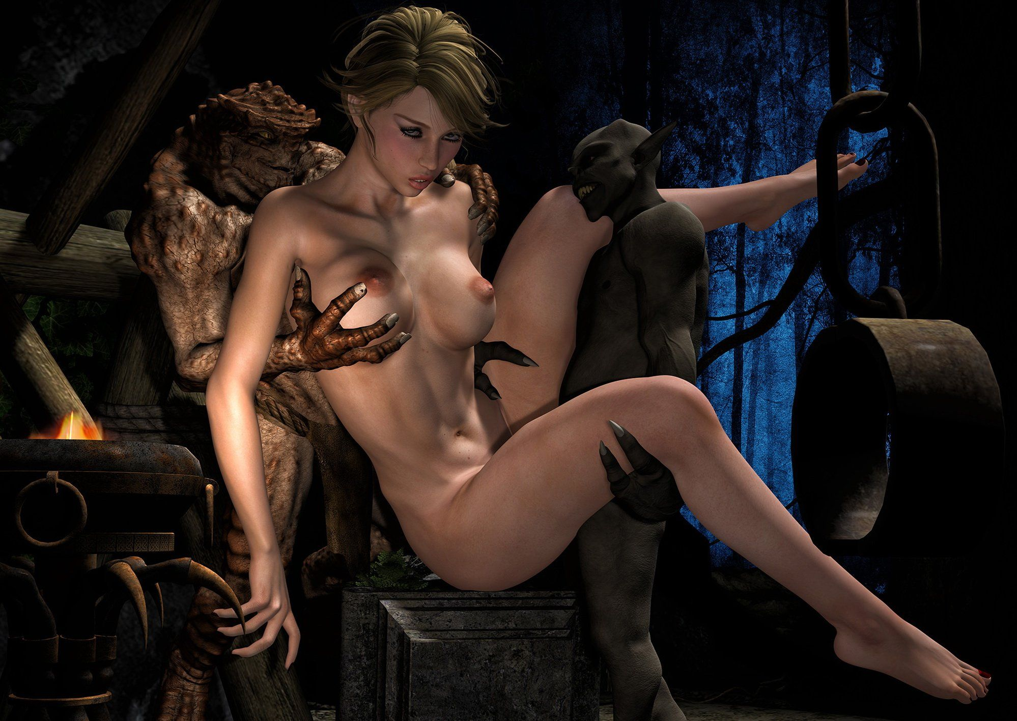 3D Cartoon Teen Porn girls and monsters porn . naked photo.