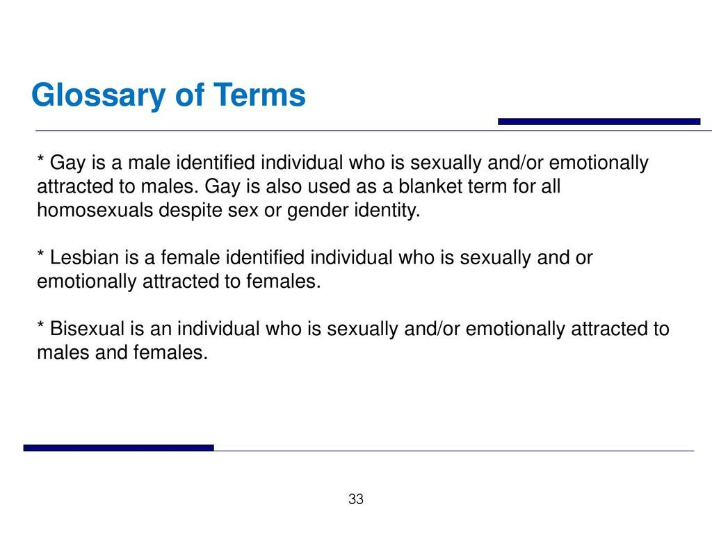 Glossery terms lesbian