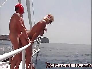 Swingers at orgy on yacht Group