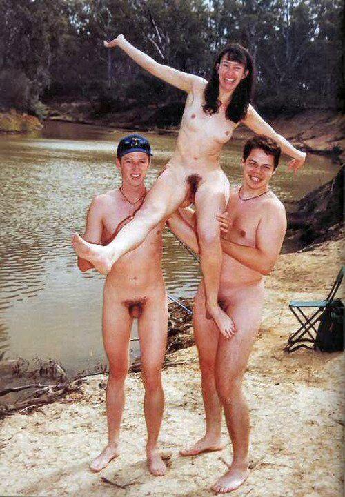 Freaky skinny naked white girl